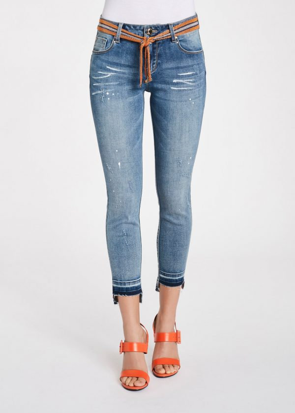 jeans cropped gaudi