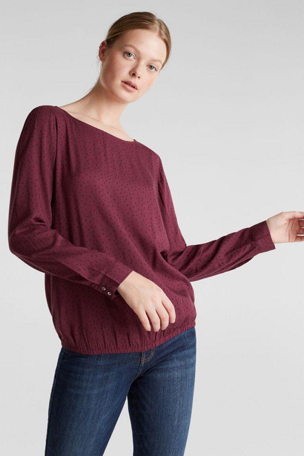 blouse rouge esprit