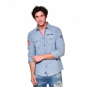 chemise bleu von dutch