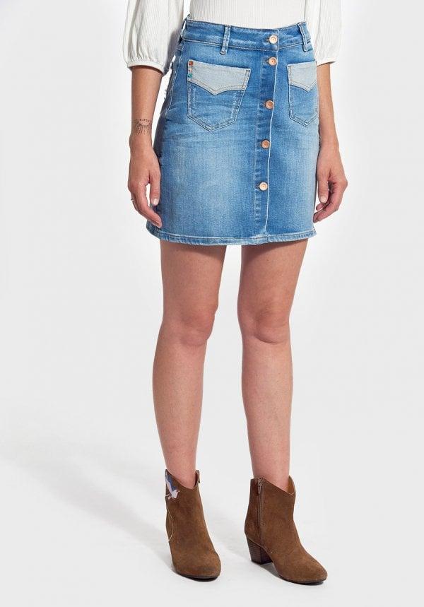 jupe en jeans kaporal