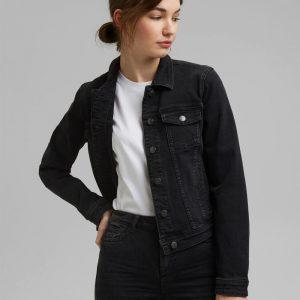 blouson jeans noir esprit
