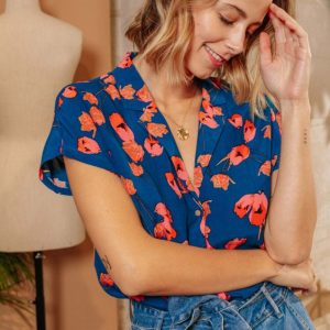 blouse à fleurs LPE