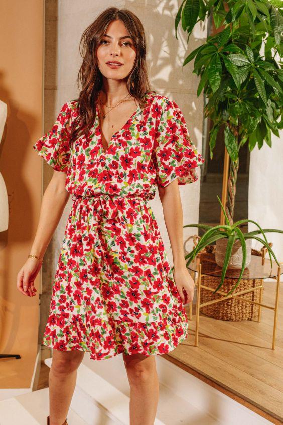 robe à fleurs LPE