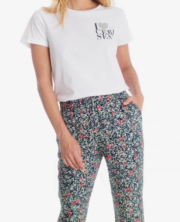 pantalon à fleurs LTC