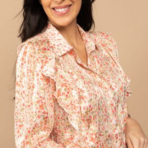 blouse imprimé fleurs deeluxe