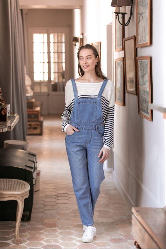 salopette en jeans LPE