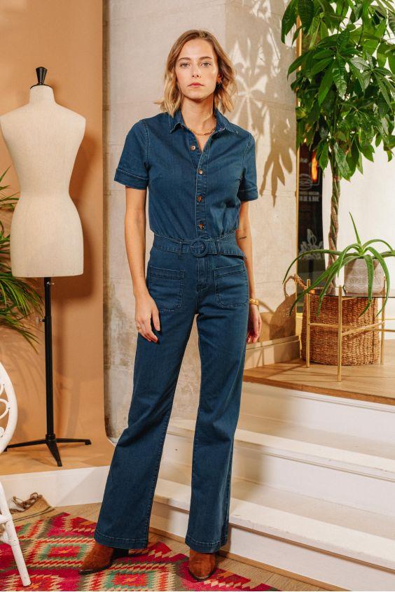combinaison en jeans LPE